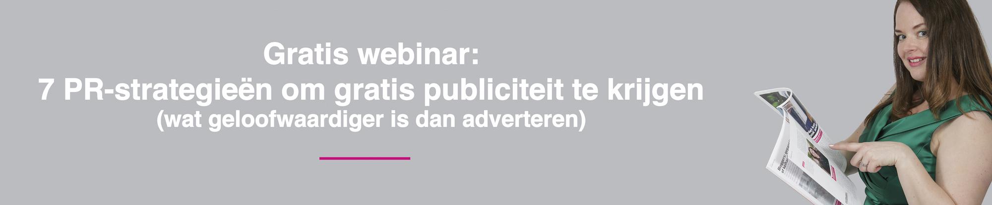 Gratis PR training over free publicity door PR expert Stephanie Aukes van PR-bureau Supastar-pr